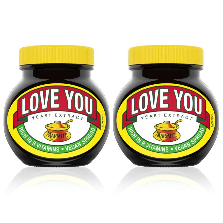 LOVE YOU MARMITE JARS